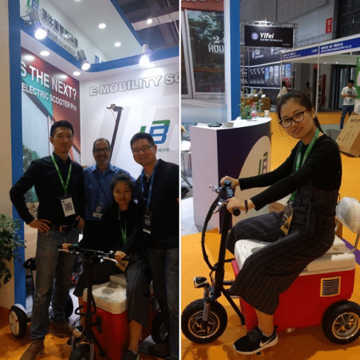 Cruzin Cooler at the China eBike Expo in Shanghai